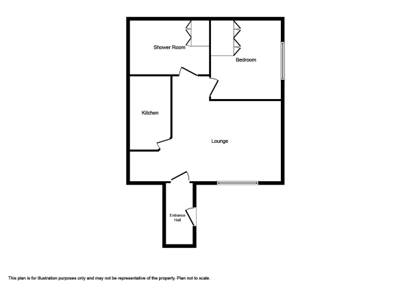 Floor Plan Image for 1 Bedroom Ground Flat to Rent in Murray Terrace, Smithton