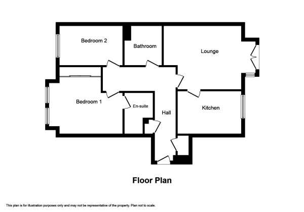 Floor Plan Image for 2 Bedroom Flat for Sale in Holm Farm Road, Culduthel
