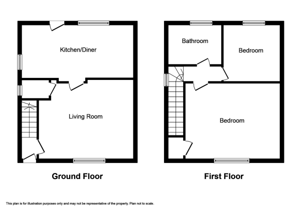 Floor Plan Image for 2 Bedroom Semi-Detached House for Sale in Bellfield Park, Inverness
