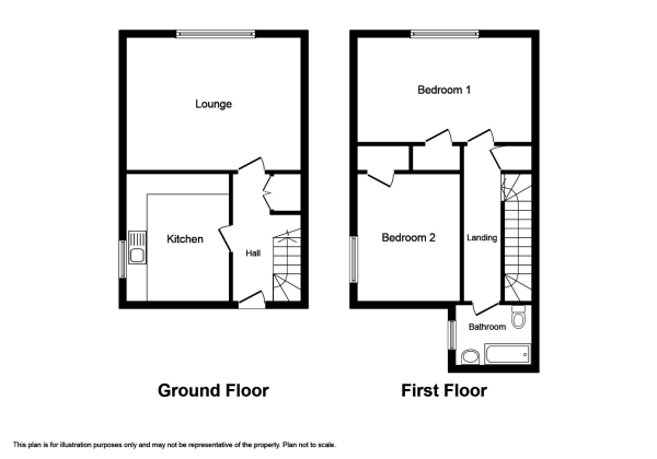 Floor Plan Image for 2 Bedroom Ground Maisonette to Rent in Birnie Terrace, Inverness