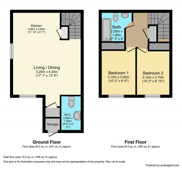 Floor Plan Image for 2 Bedroom Town House for Sale in Resaurie Gardens, Smithton