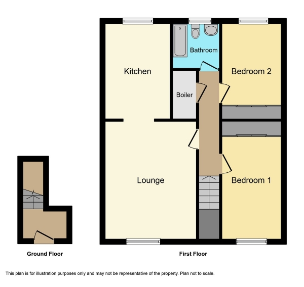 Floor Plan Image for 2 Bedroom Flat for Sale in Blackthorn Road, Culloden