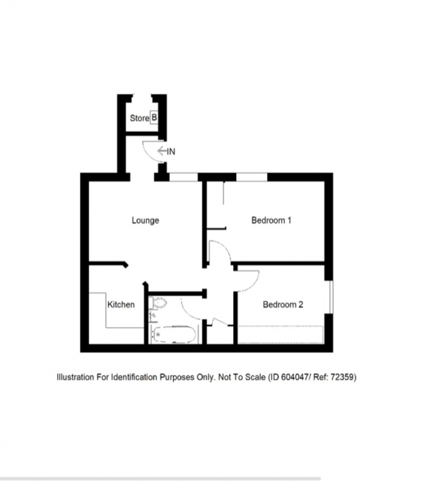 Floor Plan Image for 2 Bedroom Ground Flat for Sale in Kingsview Terrace, Inverness