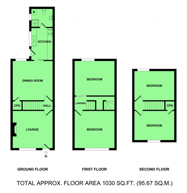 Floor Plan Image for 4 Bedroom Terraced House for Sale in High Mill Road, Cobholm