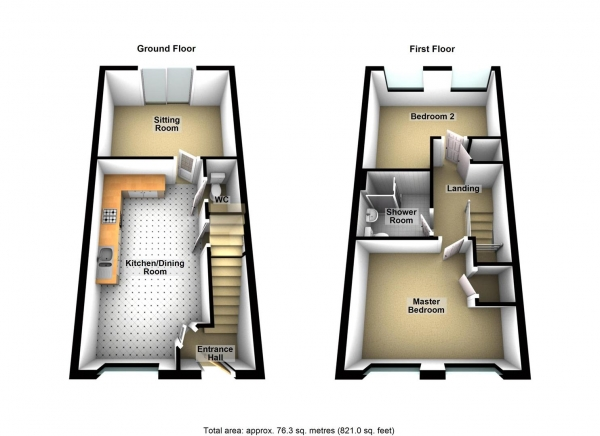 Floor Plan Image for 2 Bedroom Terraced House for Sale in Falcon Road, Mount Wise