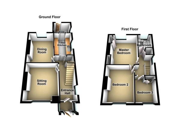 Floor Plan Image for 3 Bedroom Semi-Detached House for Sale in Lopes Road, Milehouse