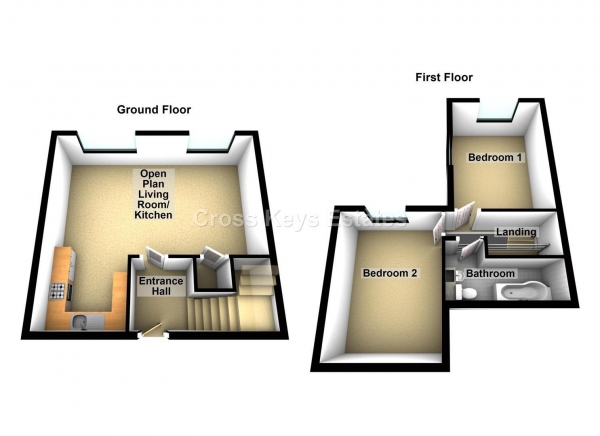 Floor Plan Image for 2 Bedroom Apartment to Rent in North Road West, Plymouth