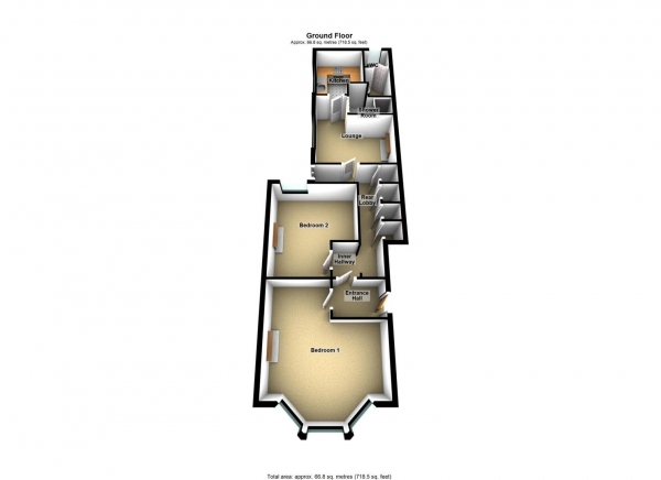 Floor Plan Image for 1 Bedroom Apartment to Rent in Diamond Avenue, St Judes