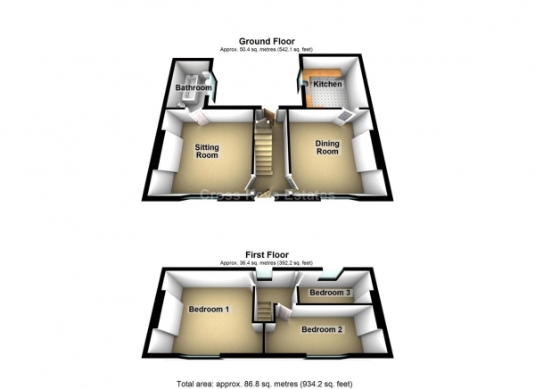 Floor Plan Image for 3 Bedroom Property for Sale in Chedworth Street, Greenbank