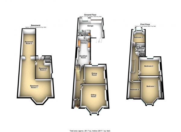 Floor Plan Image for 4 Bedroom Property for Sale in Beaumont Road, St Judes