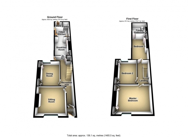 Floor Plan Image for 3 Bedroom Property for Sale in Sussex Road, Ford