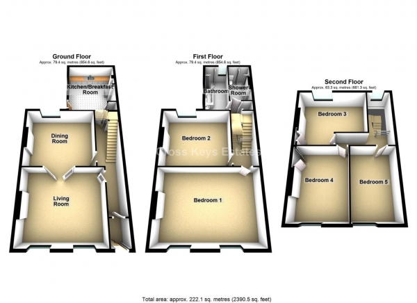 Floor Plan Image for 5 Bedroom Property for Sale in Radnor Place, City Centre