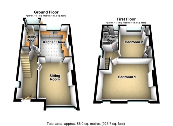 Floor Plan Image for 2 Bedroom Property for Sale in West Down Road, Beacon Park