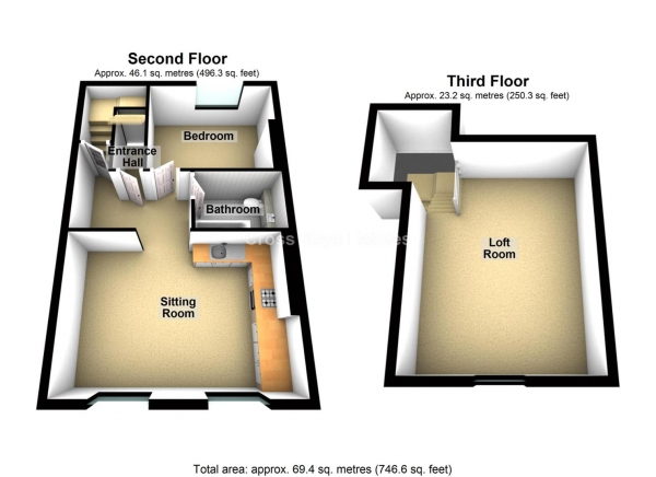 Floor Plan Image for 2 Bedroom Apartment for Sale in Wyndham Street West, Stonehouse