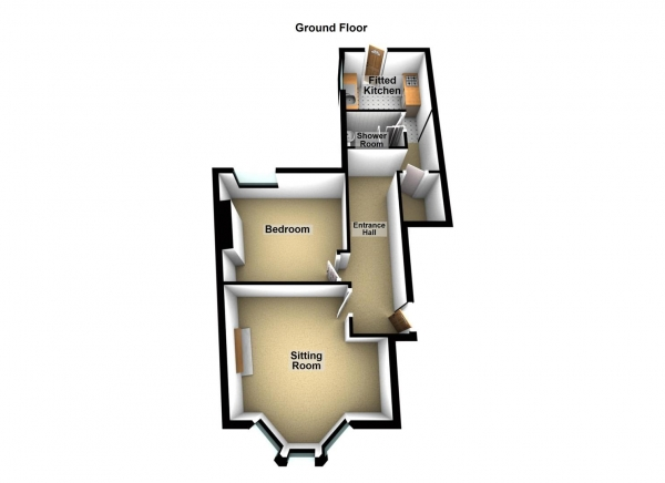 Floor Plan Image for 1 Bedroom Apartment for Sale in Fellowes Place, Millbridge