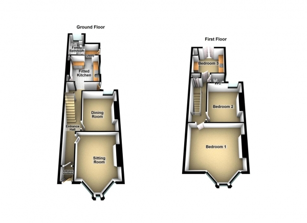 Floor Plan Image for 3 Bedroom Property for Sale in St. Georges Terrace, Stoke