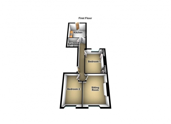 Floor Plan Image for 2 Bedroom Apartment for Sale in Embankment Road, St Judes