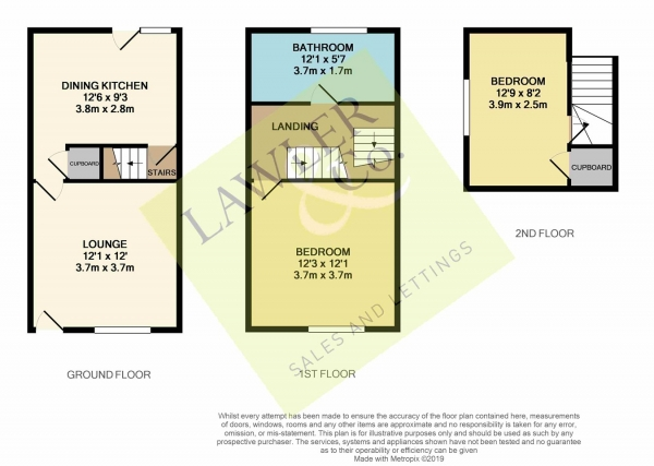Floor Plan Image for 2 Bedroom Cottage for Sale in Buxton Old Road, Disley, Stockport, SK12