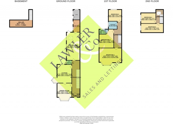 Floor Plan Image for 5 Bedroom Semi-Detached House for Sale in Chester Road, Poynton, Stockport, SK12