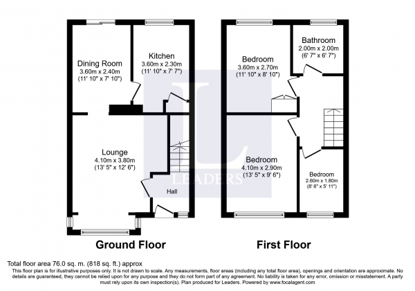 Floor Plan Image for 3 Bedroom End of Terrace House to Rent in Gorleston Road, Lowestoft