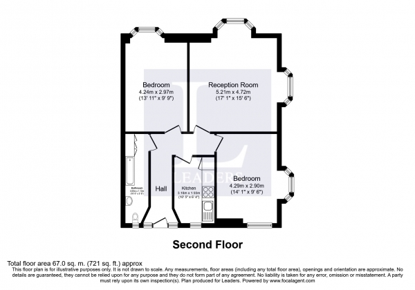 Floor Plan Image for 2 Bedroom Flat to Rent in High Street, Brighton
