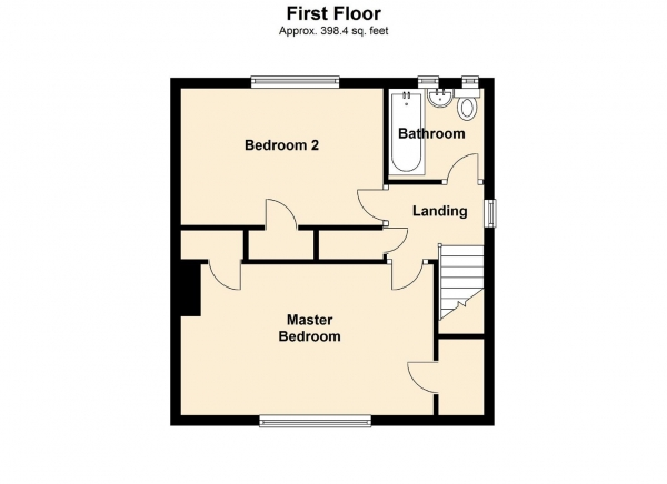 Floor Plan Image for 2 Bedroom Semi-Detached House for Sale in Evanlade, Gateshead