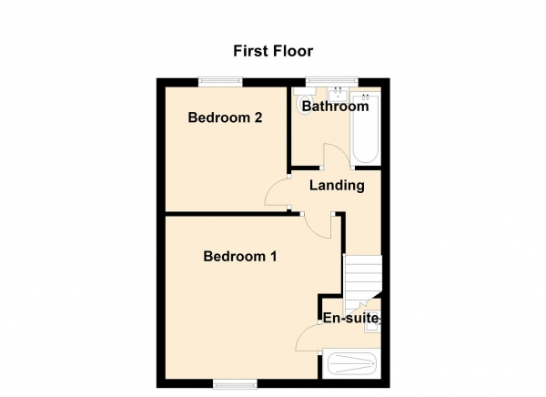 Floor Plan Image for 2 Bedroom Property for Sale in Claremont Terrace, Springwell, Gateshead
