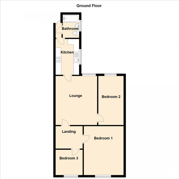 Floor Plan Image for 3 Bedroom Apartment for Sale in Durham Road, Gateshead