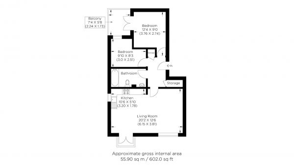 Floor Plan Image for 2 Bedroom Flat for Sale in Britannia Gate, Silvertown E16