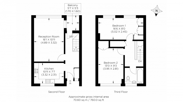 Floor Plan Image for 2 Bedroom Duplex for Sale in Manchester Road, Isle of Dogs E14