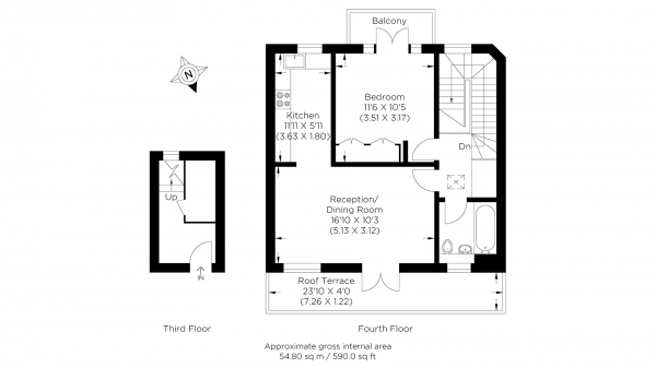 Floor Plan Image for 1 Bedroom Flat for Sale in Roy Square, Limehouse E14