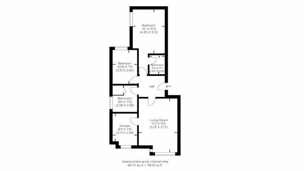 Floor Plan Image for 2 Bedroom Flat for Sale in Wheat Sheaf Close, Canary Wharf E14