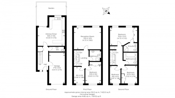 Floor Plan Image for 5 Bedroom Town House for Sale in Wheat Sheaf Close, Isle of Dogs E14
