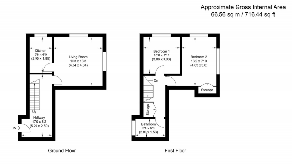 Floor Plan Image for 2 Bedroom Flat for Sale in Southwark Park Road, Bermondsey SE16