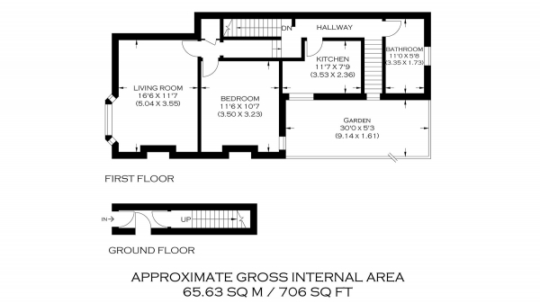 Floor Plan Image for 1 Bedroom Flat for Sale in Morgan Road, Bromley BR1