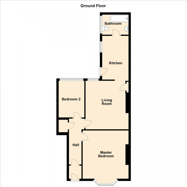Floor Plan Image for 2 Bedroom Flat for Sale in Rothbury Terrace, Newcastle Upon Tyne