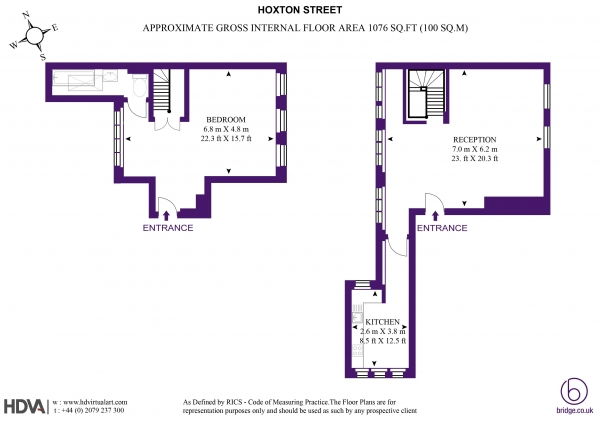 Floor Plan Image for 1 Bedroom Apartment to Rent in Hoxton Street, London N1