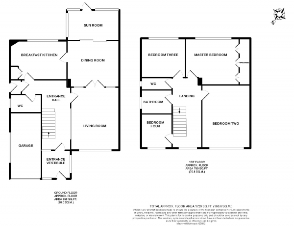 Floor Plan Image for 4 Bedroom Detached House to Rent in Chester Road, Woodford, Cheshire