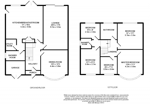 Floor Plan Image for 5 Bedroom Detached House to Rent in Kingsley Drive, Cheadle Hulme, Cheshire