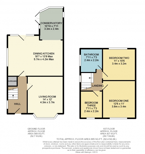 Floor Plan Image for 3 Bedroom Semi-Detached House to Rent in Ashley Drive, Bramhall, Cheshire