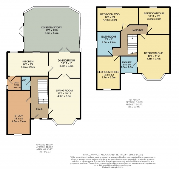 Floor Plan Image for 4 Bedroom Detached House to Rent in Millwood Close, Cheadle Hulme, Cheshire