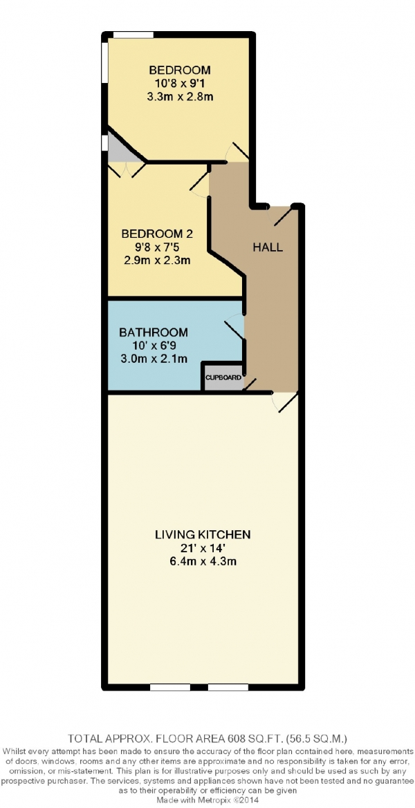 Floor Plan Image for 2 Bedroom Flat to Rent in Woodford Road, Bramhall