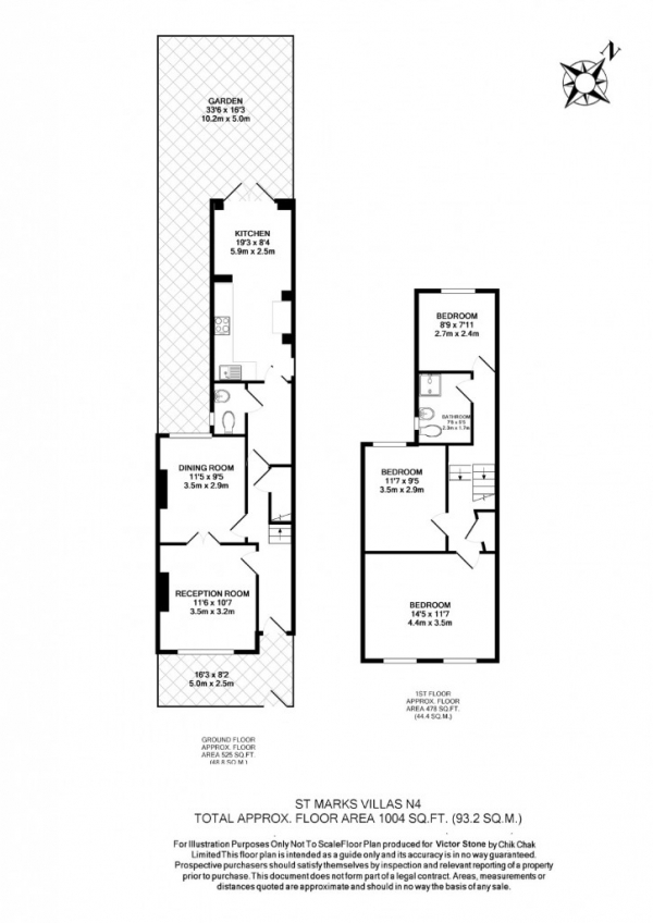 Floor Plan Image for 3 Bedroom Terraced House for Sale in St Marks Villas Moray Road,  Finsbury Park, N4