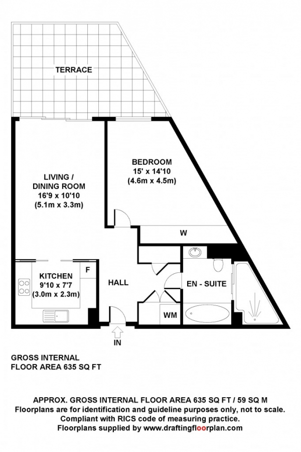 Floor Plan Image for 1 Bedroom Flat for Sale in Goodman Fields Leman Street,  Aldgate, E1