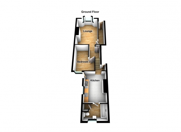 Floor Plan Image for 1 Bedroom Flat for Sale in Abbey Road, DA17 * 3D FLOORPLAN & VIDEO AVAILABLE *