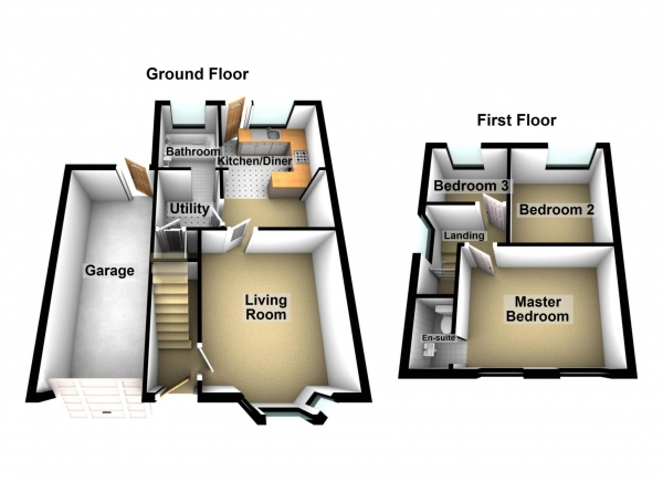 Floor Plan Image for 3 Bedroom Property for Sale in OWENITE STREET SE2 9NF