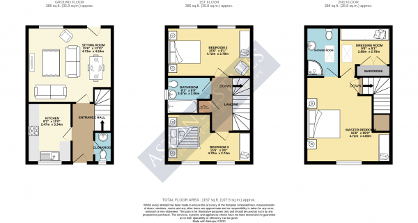Floor Plan Image for 3 Bedroom Semi-Detached House for Sale in Milburn Drive, St Crispin, Northampton