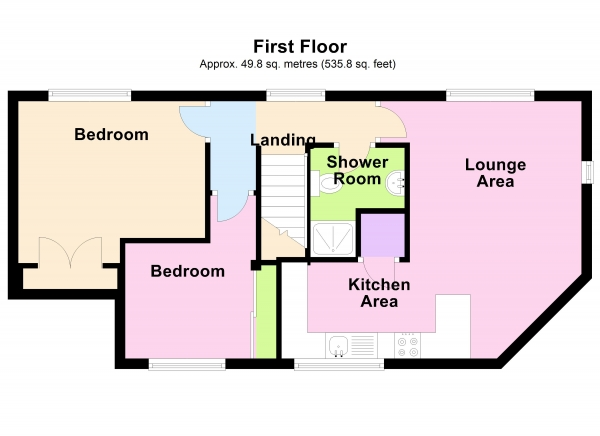 Floor Plan Image for 2 Bedroom Coach House to Rent in Sheppards Close, Newport Pagnell, Buckinghamshire