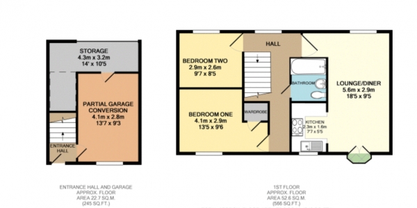 Floor Plan Image for 2 Bedroom Coach House for Sale in Seaton Grove, Broughton, Milton Keynes, Buckinghamshire