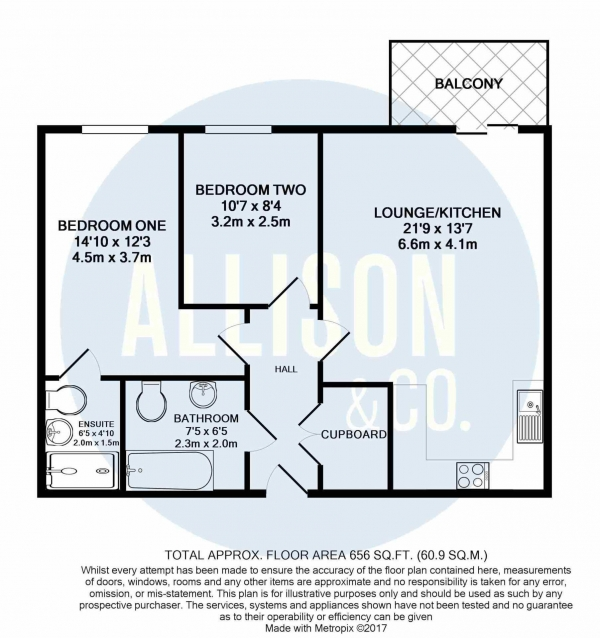 Floor Plan Image for 2 Bedroom Apartment for Sale in XQ7, Taylorson Street South, Salford